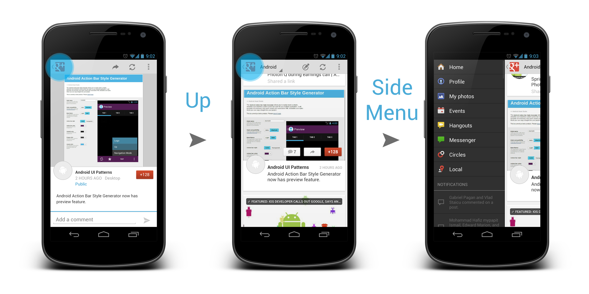 Side navigation ui pattern in android part 2
