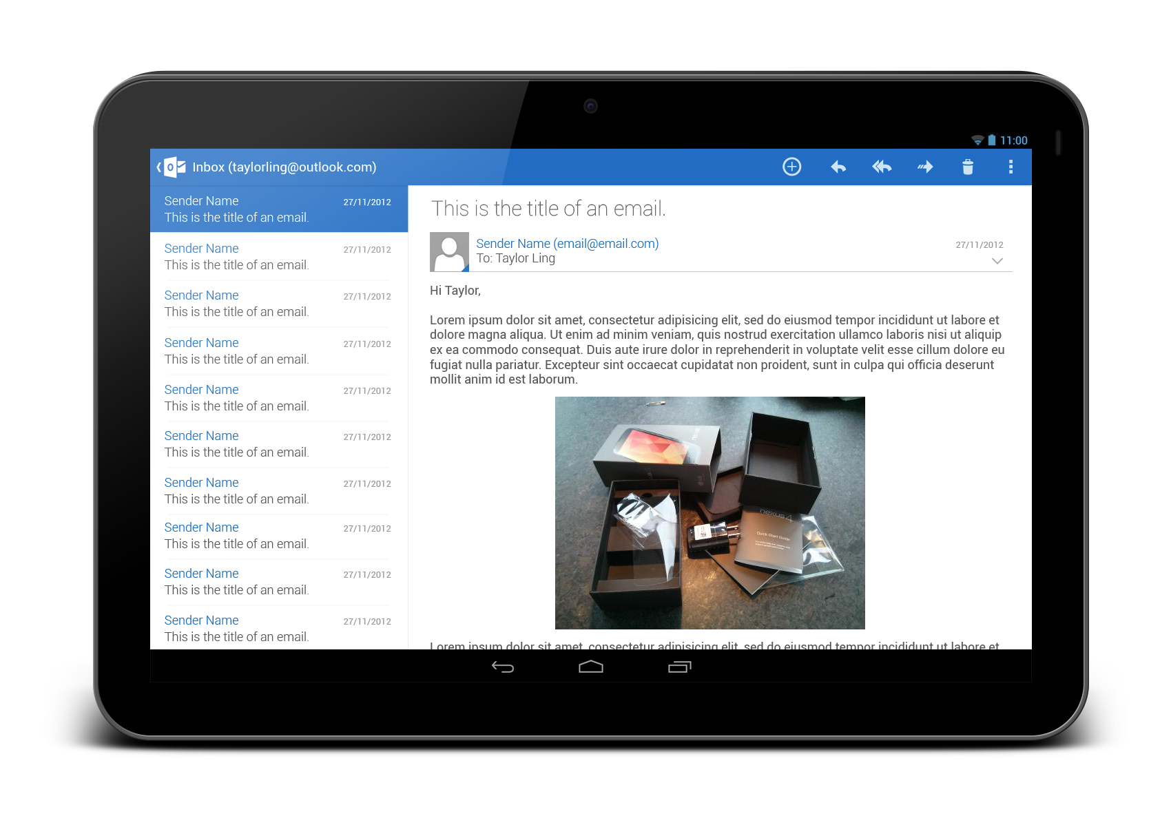 Outlook.com App Redesign – Tablet Version | Android User Interface ...