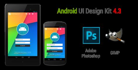 Android 4.3 UI Design Kit for Photoshop & GIMP