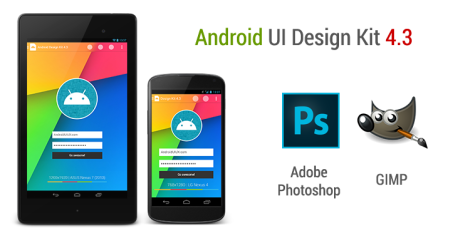Android 4.3 UI Design Kit for Photoshop & GIMP