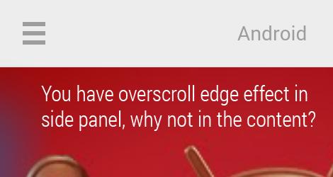 Overscroll