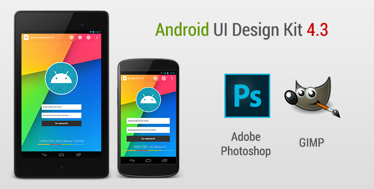 Android UI Design Kit for Photoshop and GIMP 4.3 [Free Download ...
