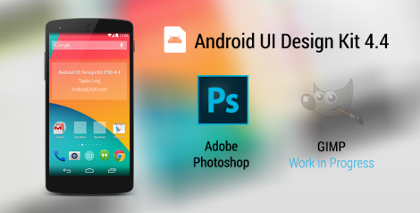 Android UI Design Kit for Photoshop 4.4