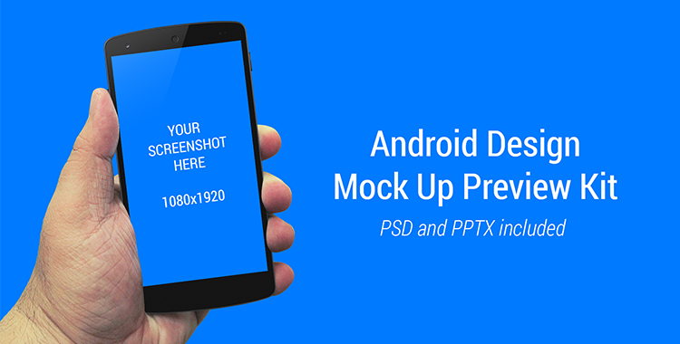 Android Design Mock Up Preview Kit